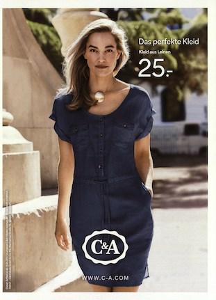 Kleid aus c a werbung