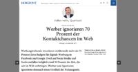 digitale Werbung: Horizont-Artikel Volker Helm