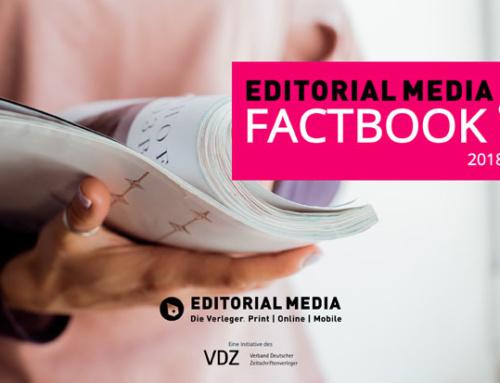 """VDZ veröffentlicht """"Editorial Media Factbook 2018″"""
